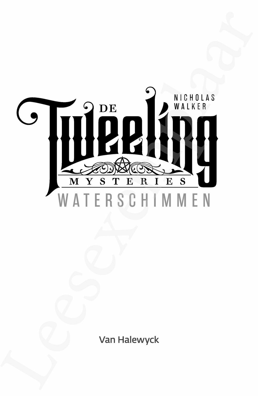 Preview: De tweeling mysteries: Waterschimmen