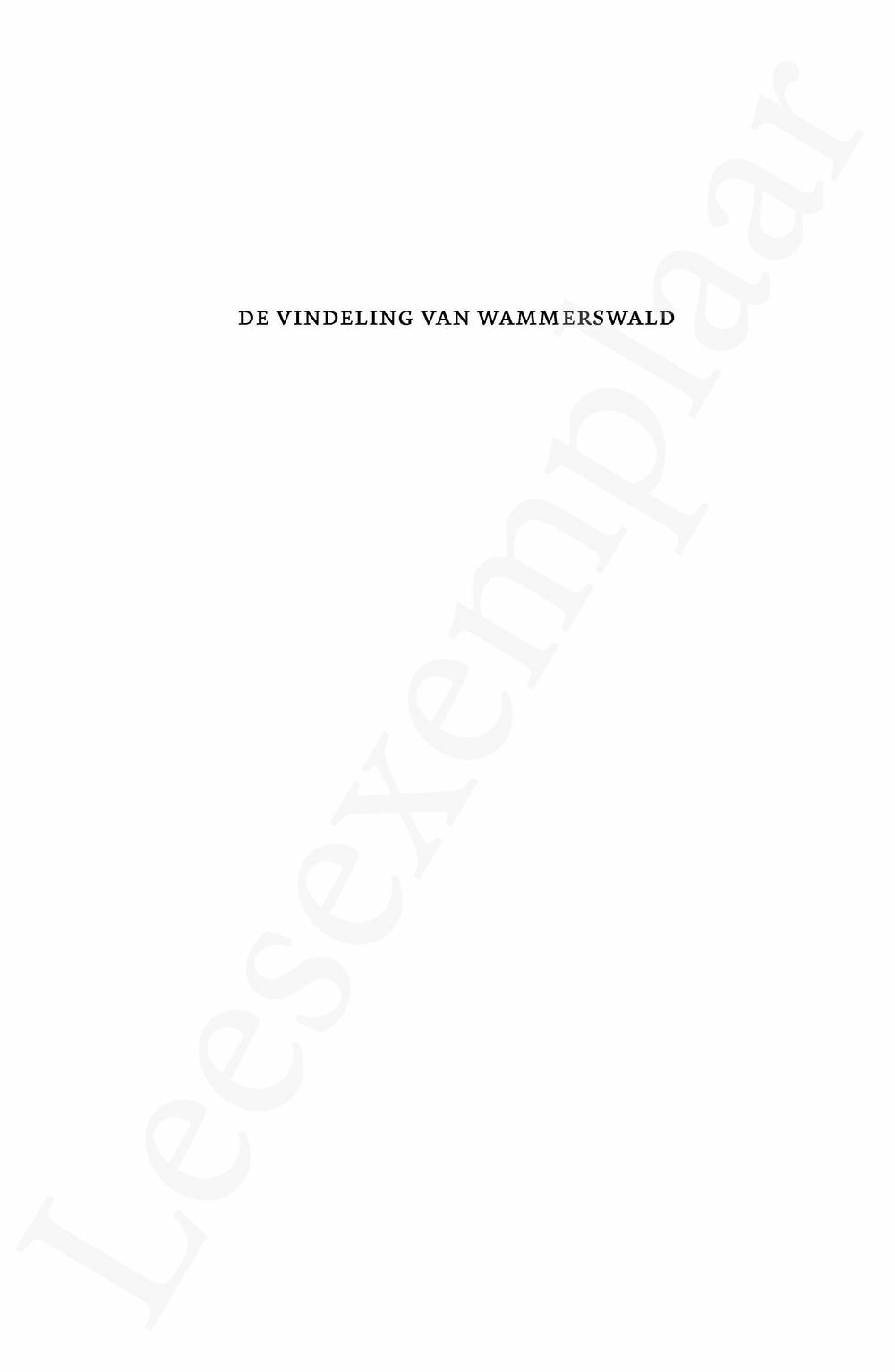Preview: De Vindeling van Wammerswald