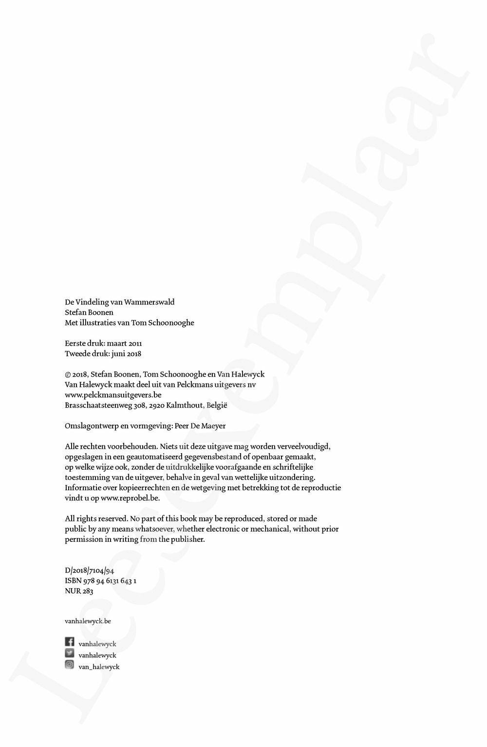 Preview: De Vindeling van Wammerswald