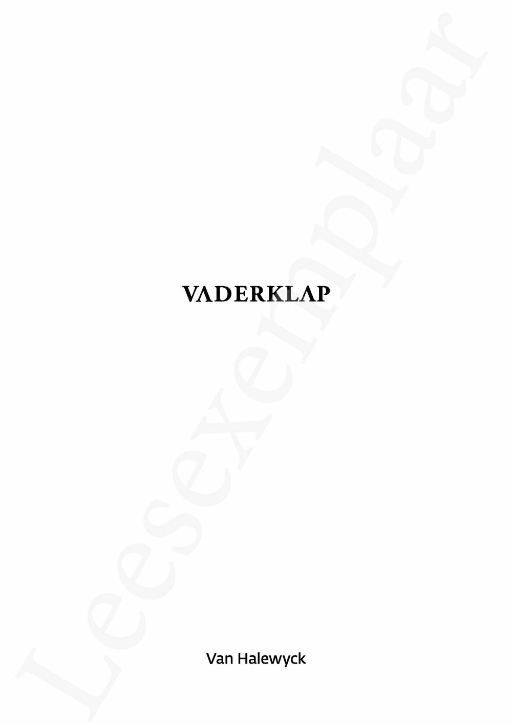 Preview: Vaderklap