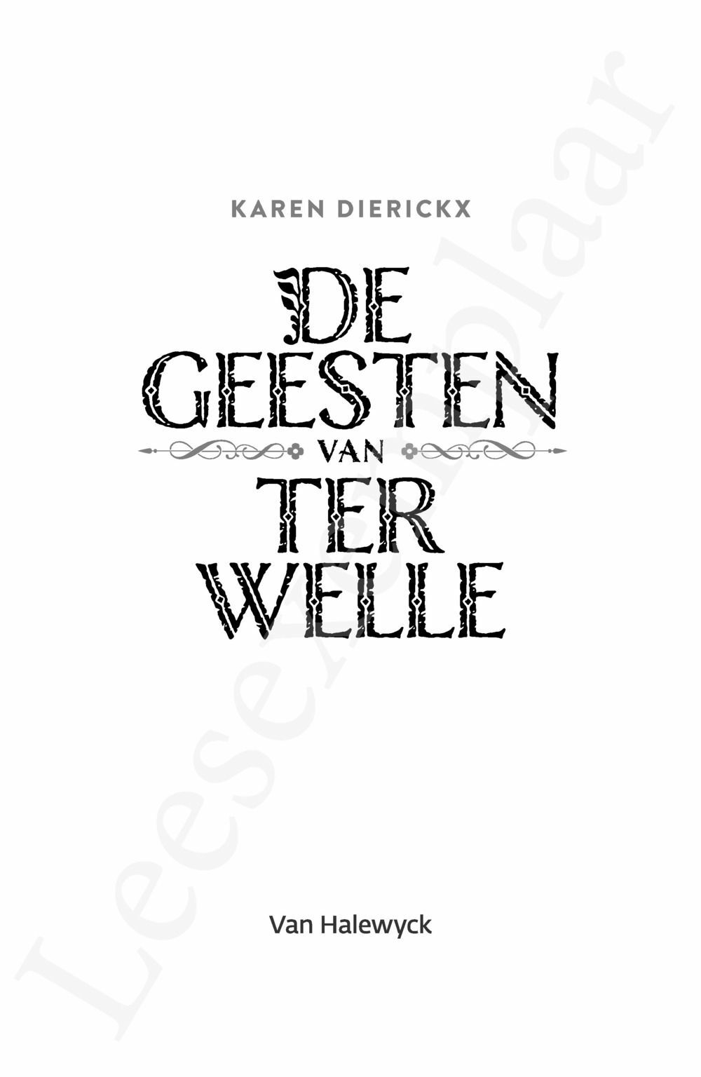 Preview: De geesten van Ter Welle