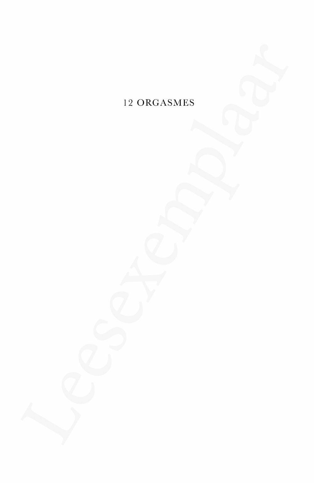 Preview: 12 orgasmes