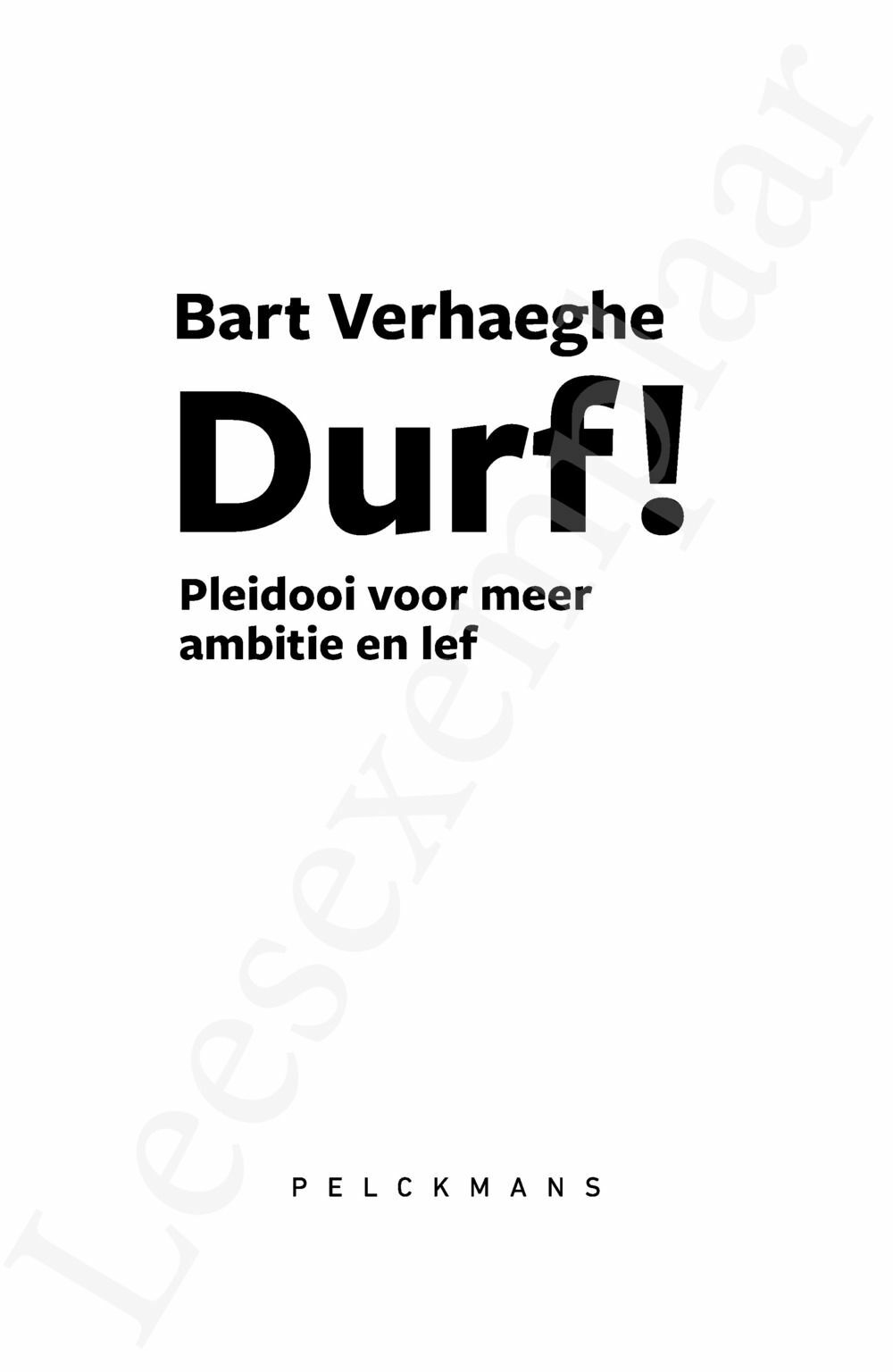 Preview: Durf!