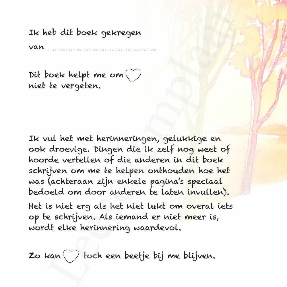Preview: Vaarwel - Mijn boekje vol herinneringen