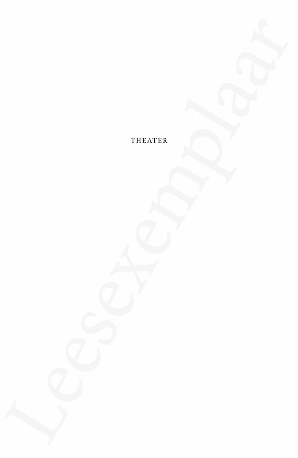 Preview: Theater