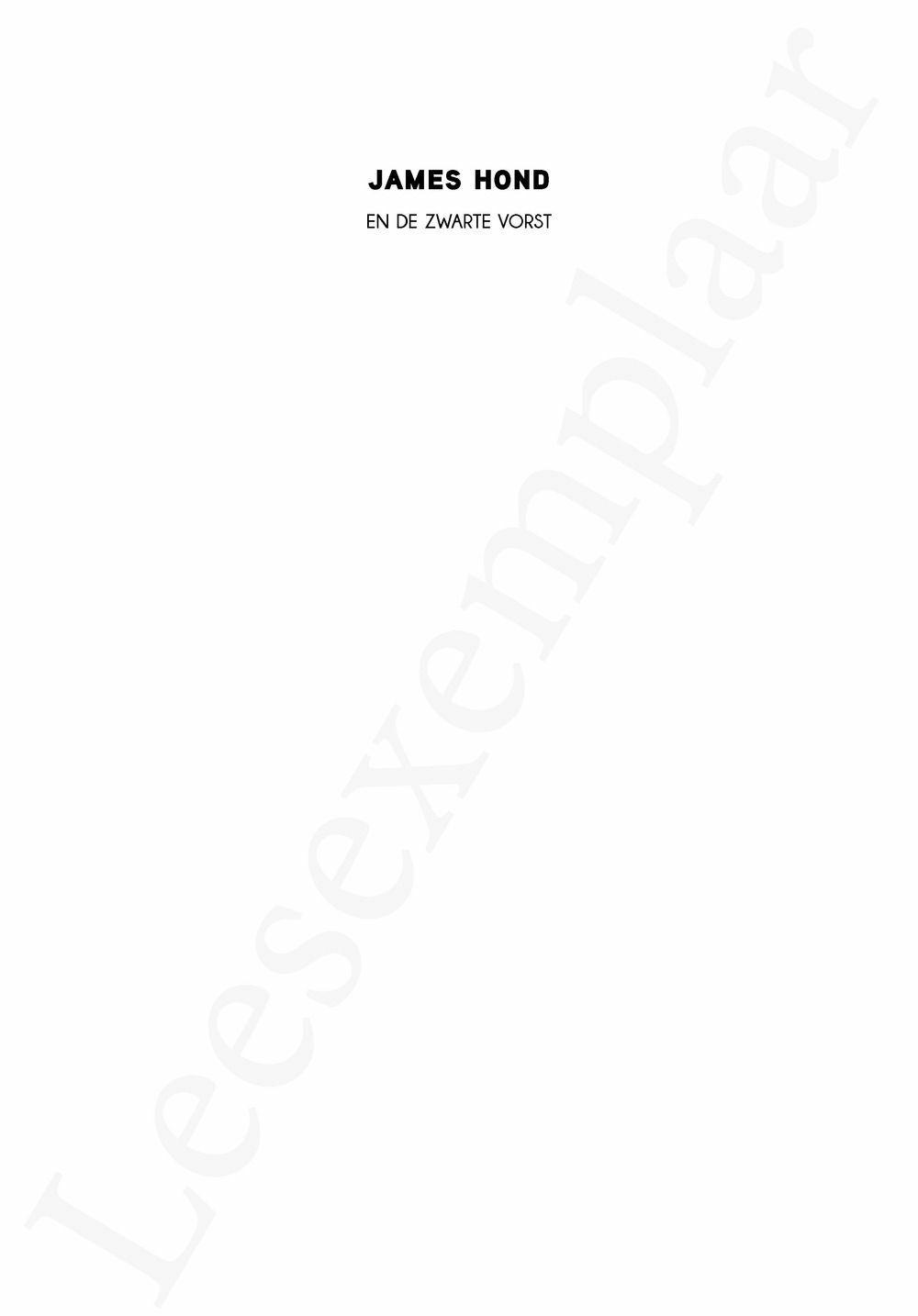 Preview: James Hond en de zwarte vorst