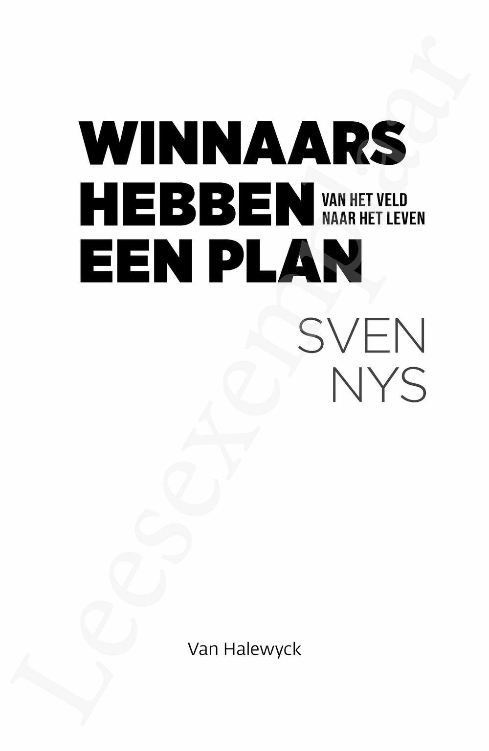 Preview: Winnaars hebben een plan