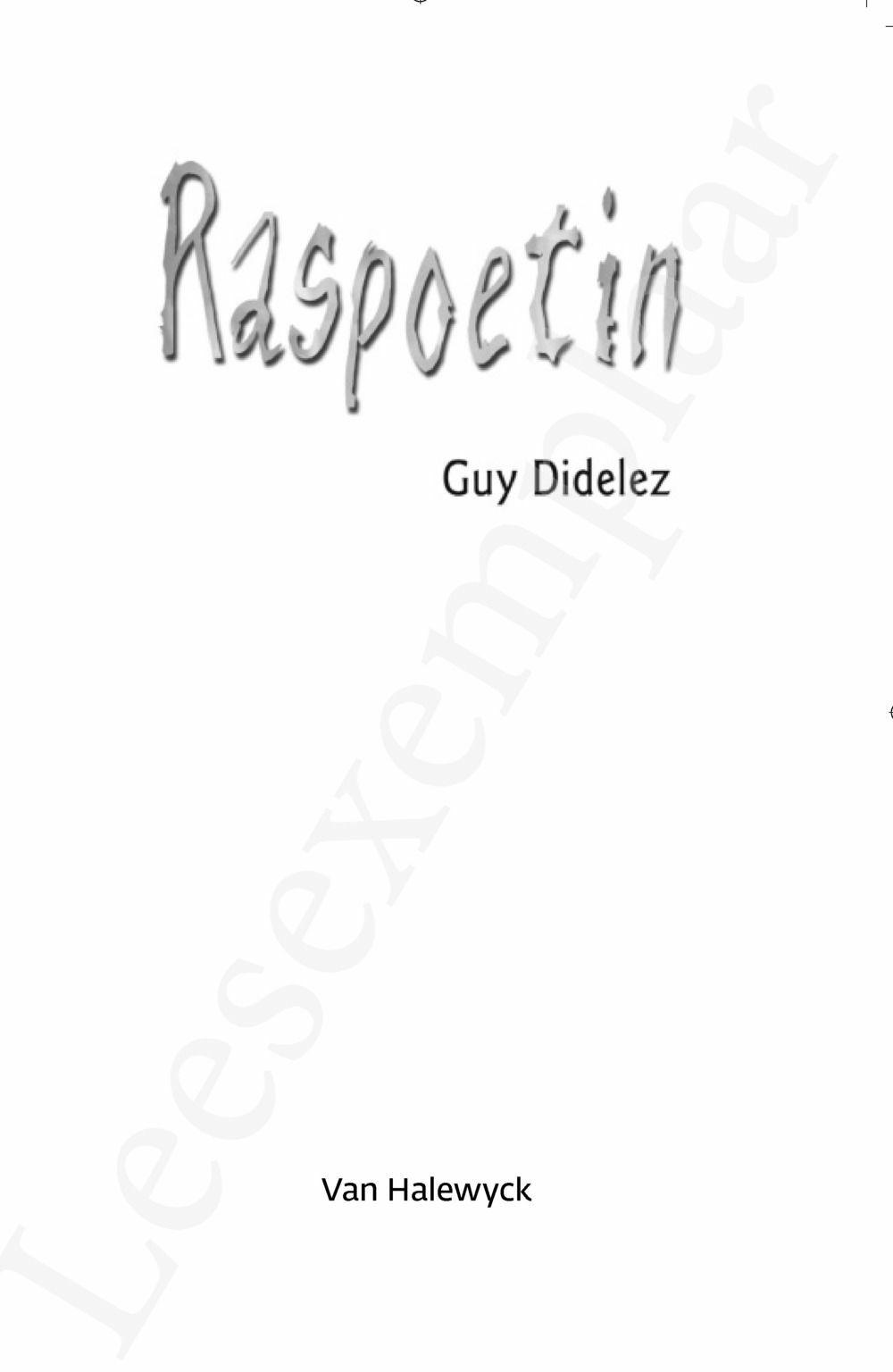 Preview: Raspoetin/Raspoetin duikt weer op