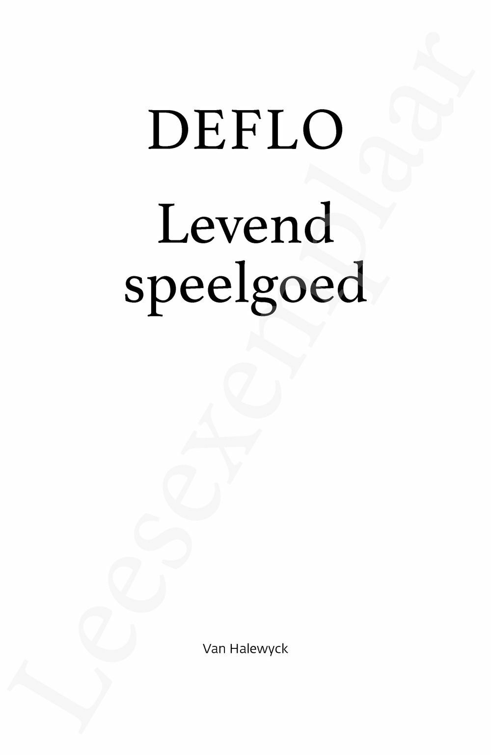 Preview: Levend speelgoed