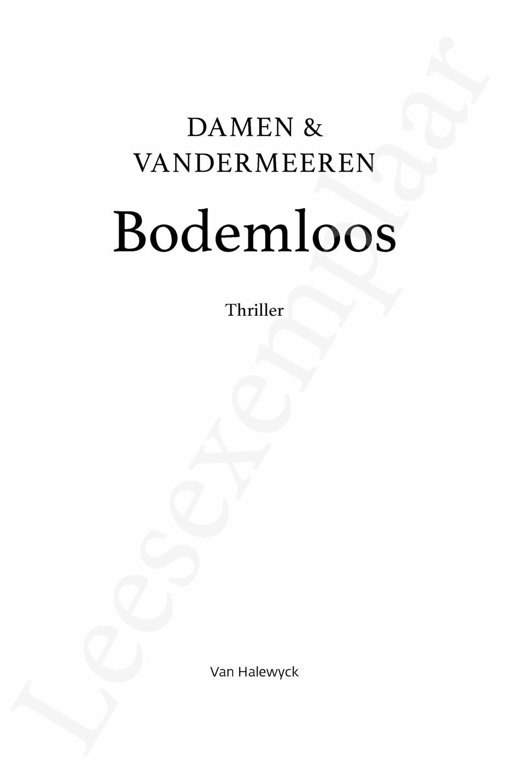 Preview: Bodemloos