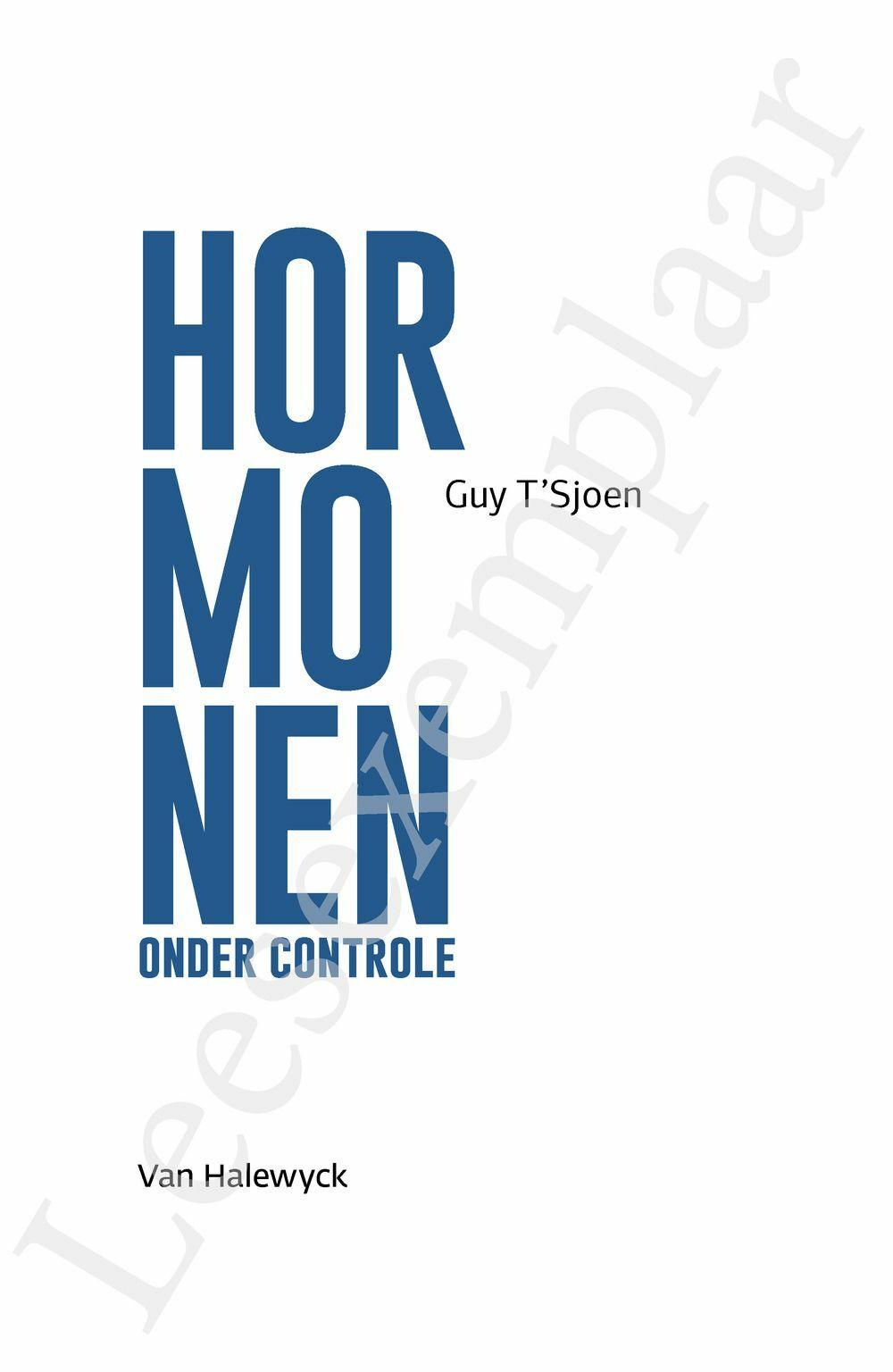 Preview: Hormonen onder controle