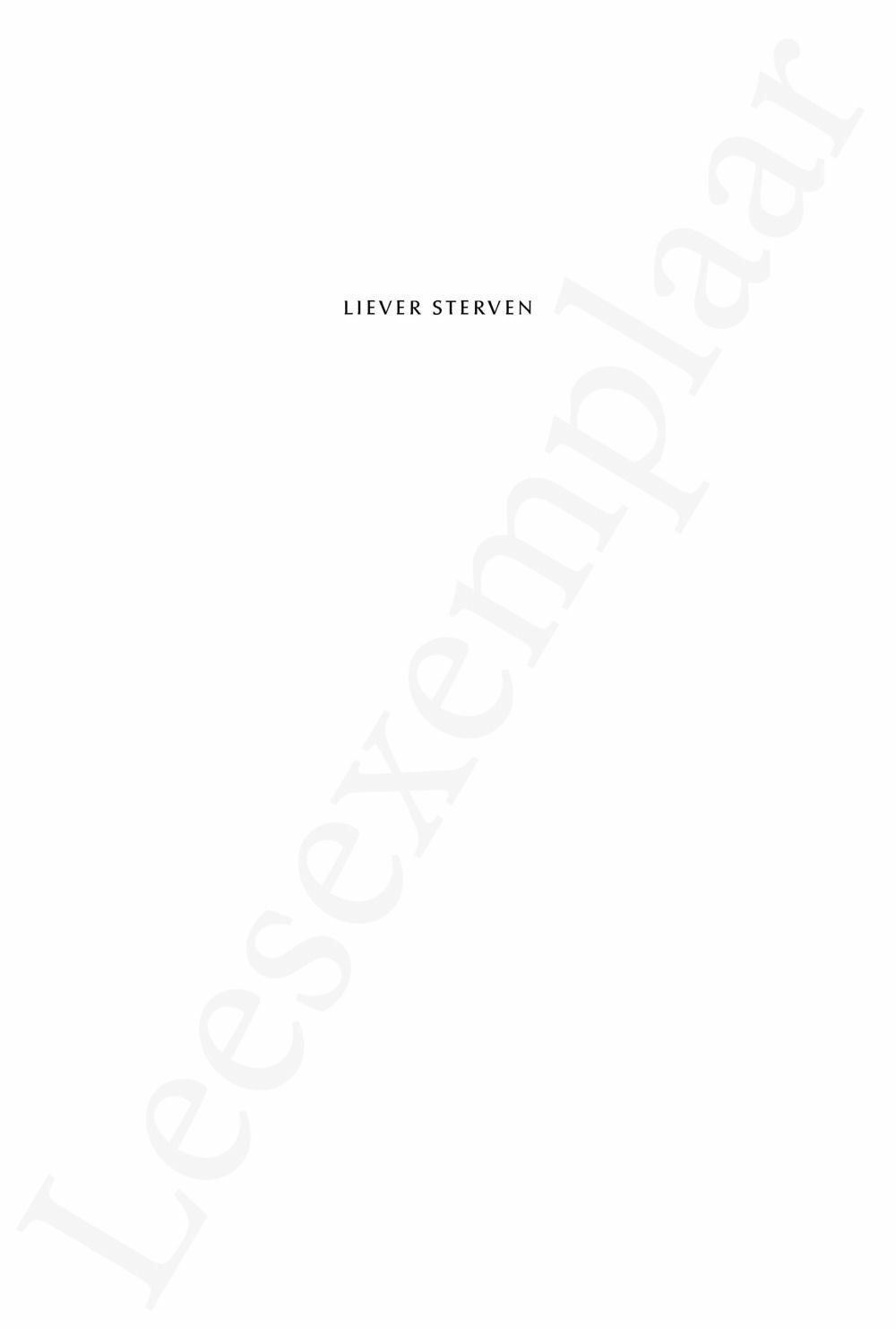 Preview: Liever sterven