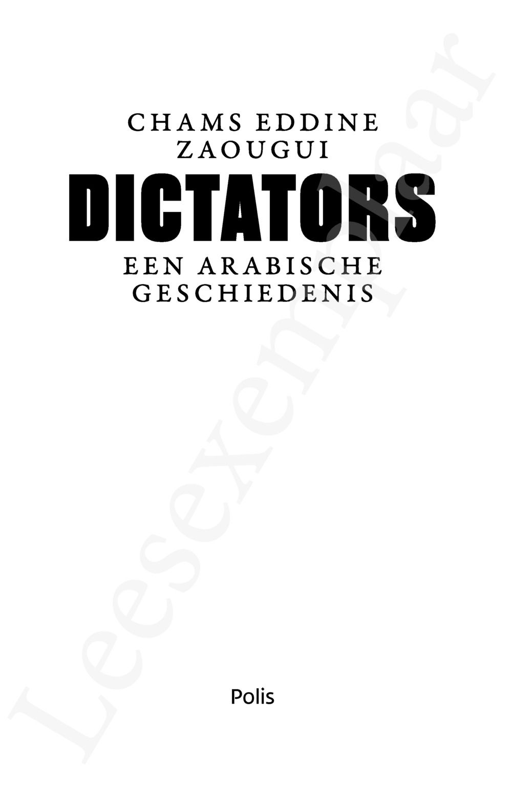 Preview: Dictators
