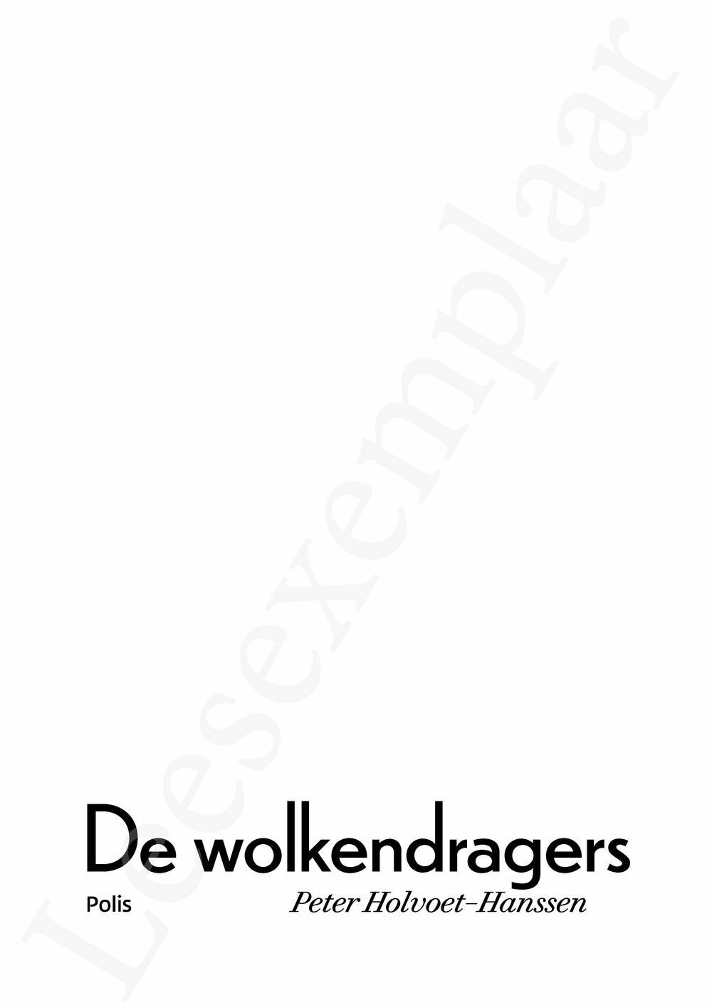 Preview: De wolkendragers