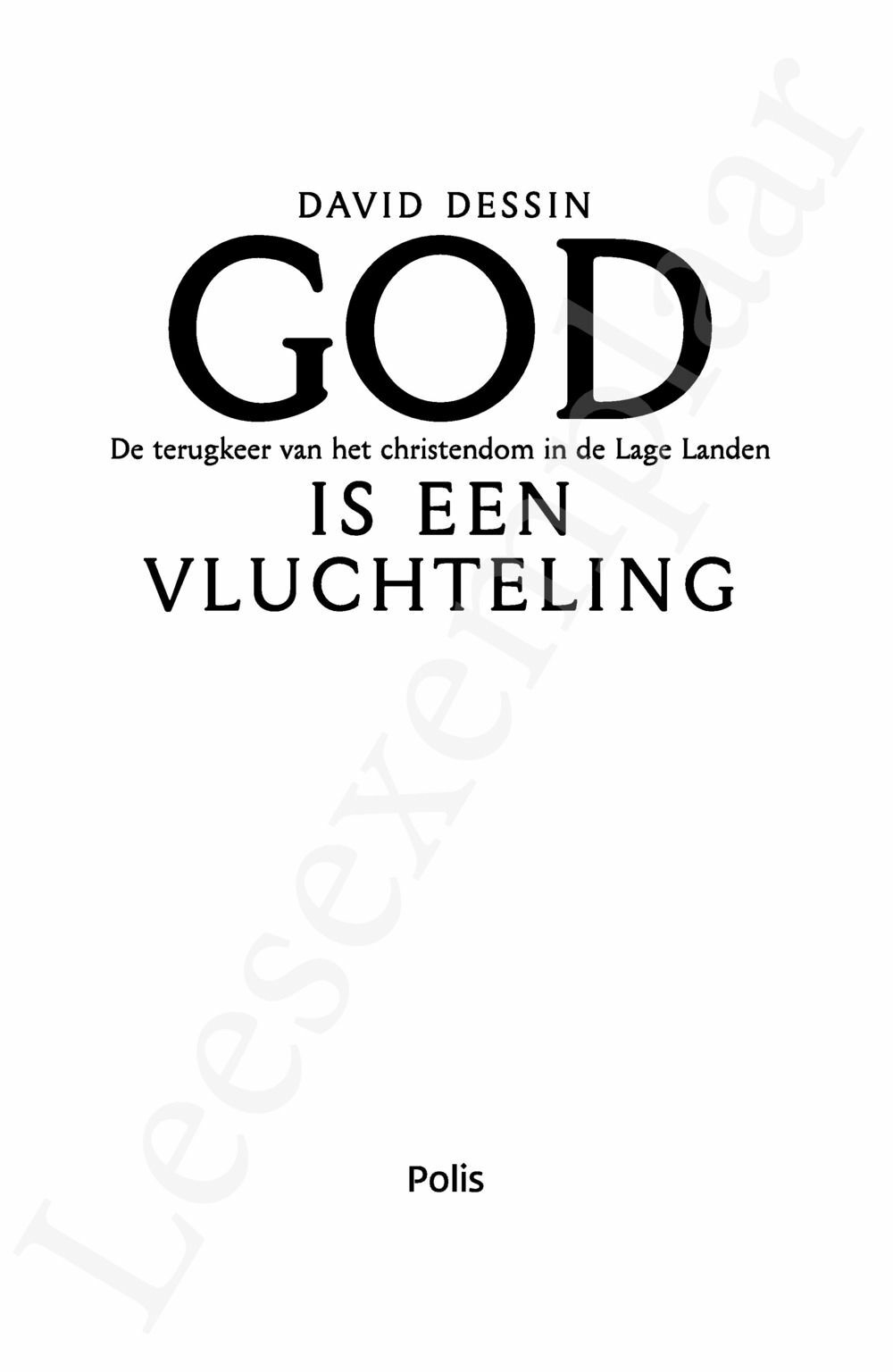 Preview: God is een vluchteling