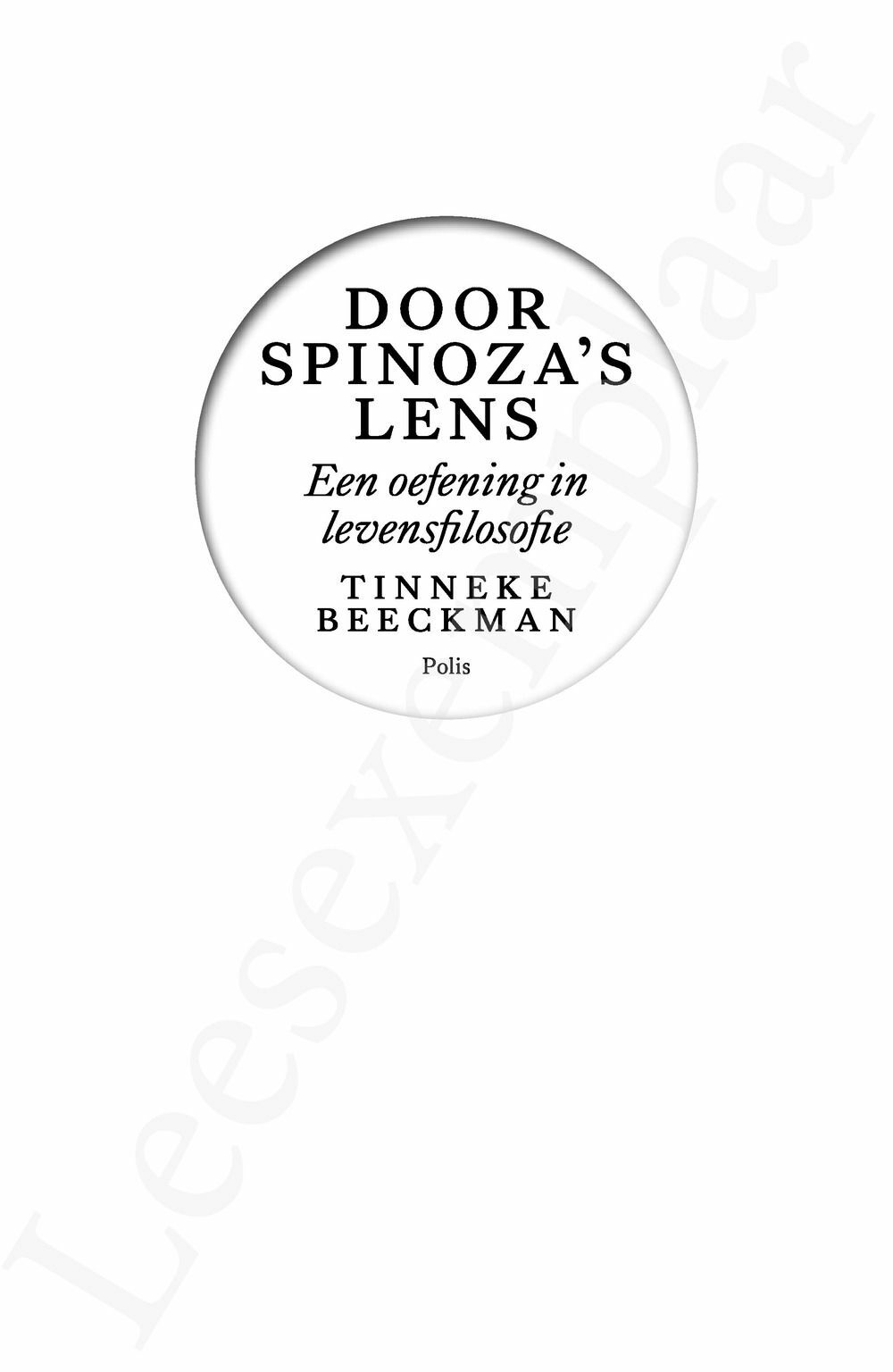 Preview: Door Spinoza's lens