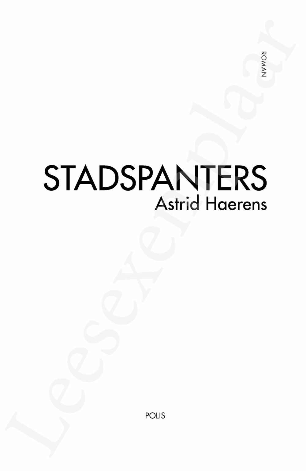 Preview: Stadspanters