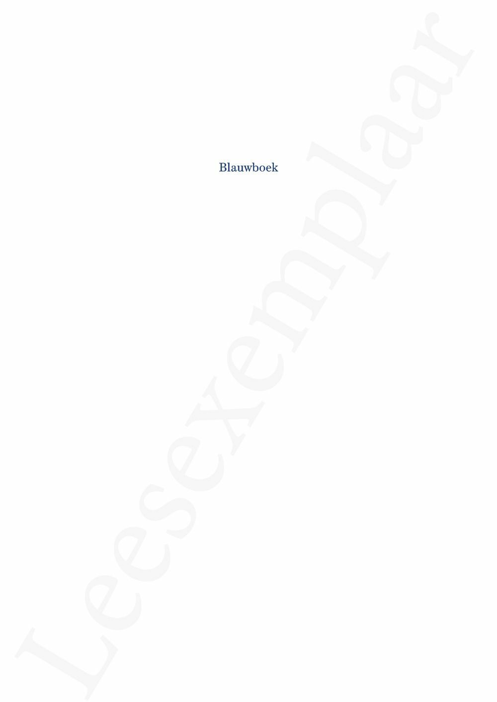Preview: Blauwboek