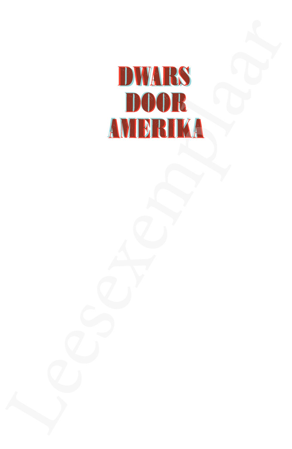 Preview: Dwars door Amerika