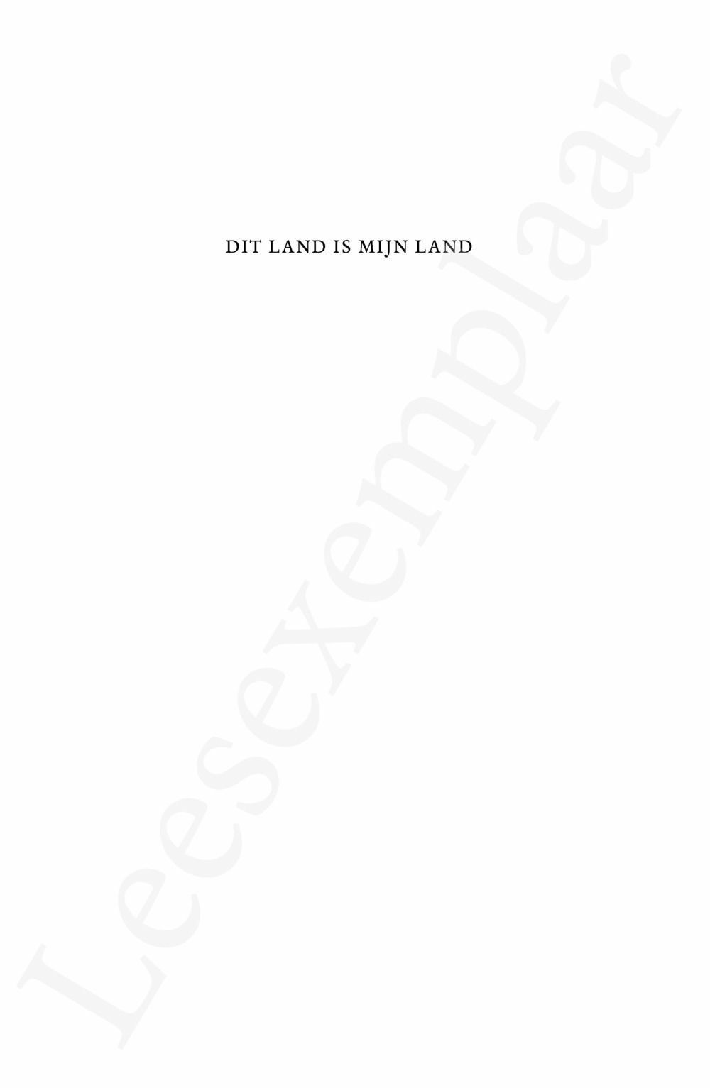 Preview: Dit land is mijn land