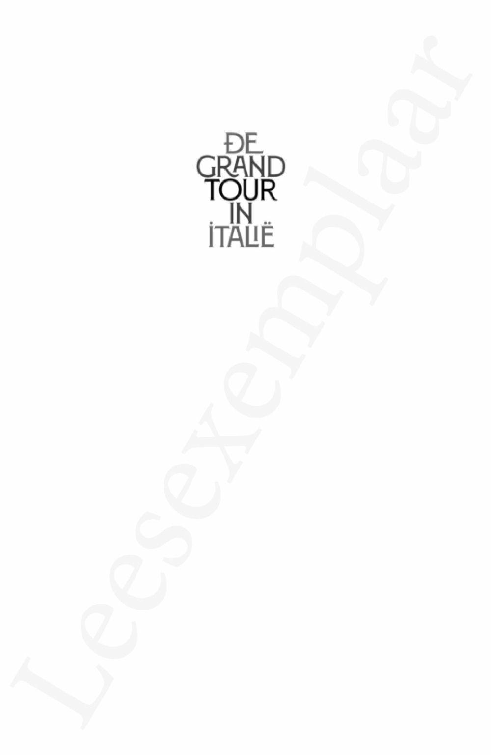 Preview: De Grand Tour in Italië