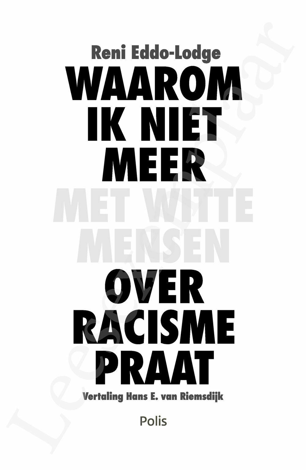 Preview: Waarom ik niet meer met witte mensen over racisme praat