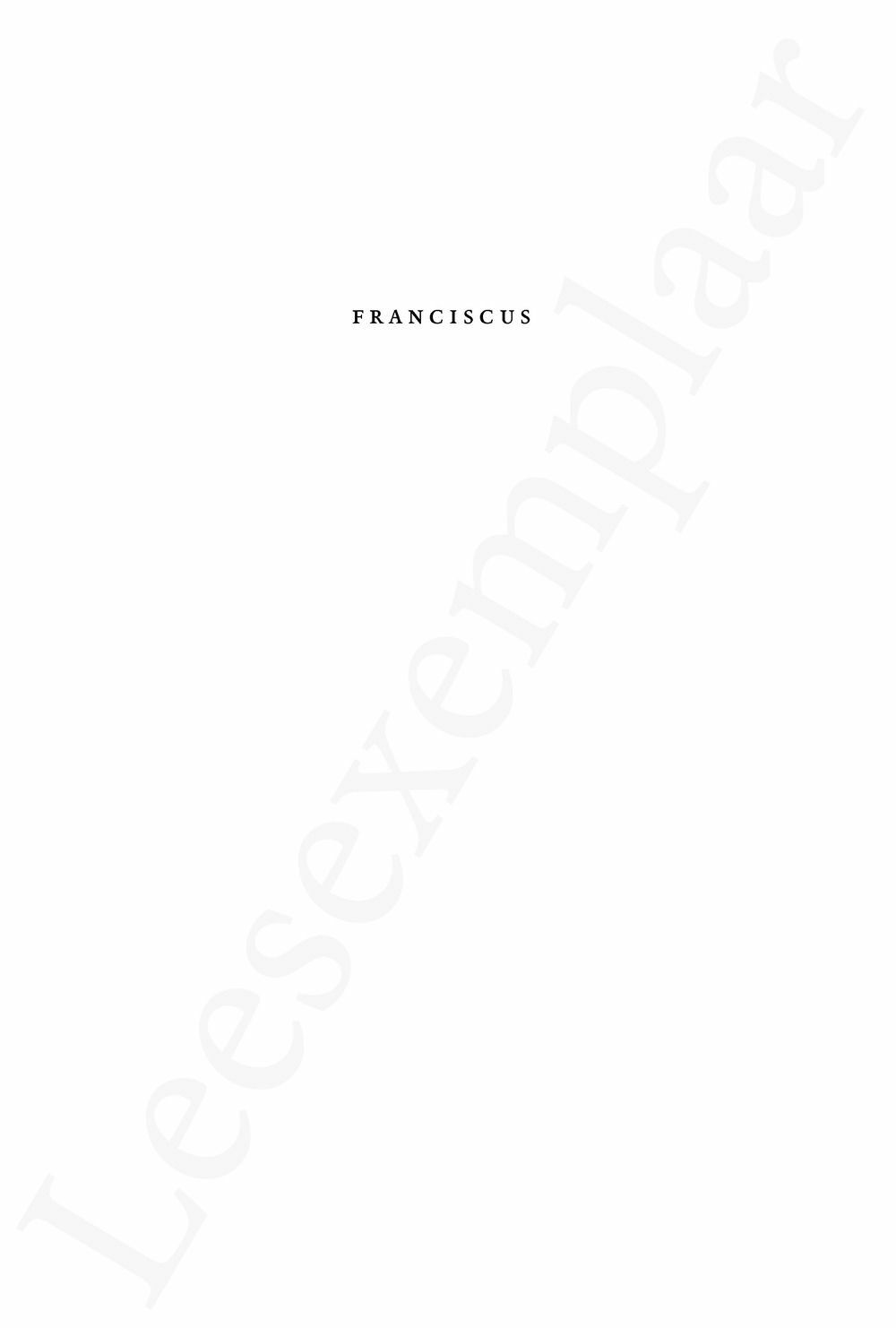 Preview: Franciscus