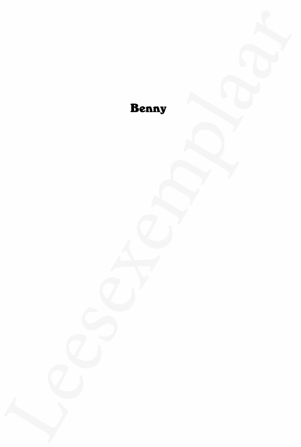 Preview: Benny