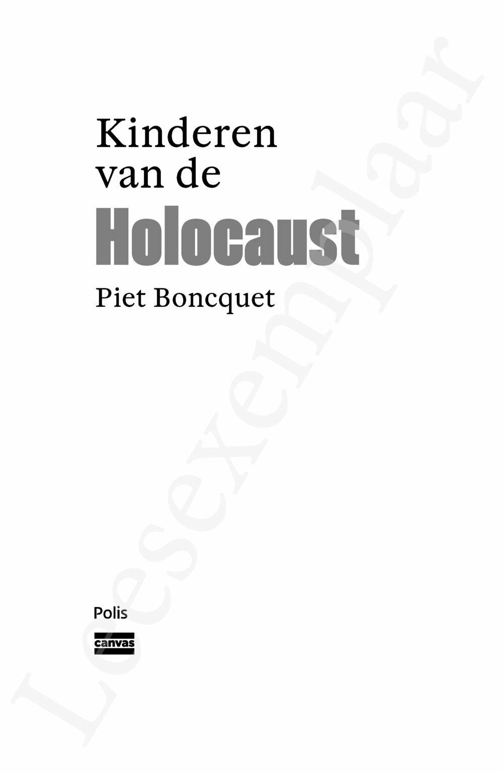 Preview: Kinderen van de Holocaust