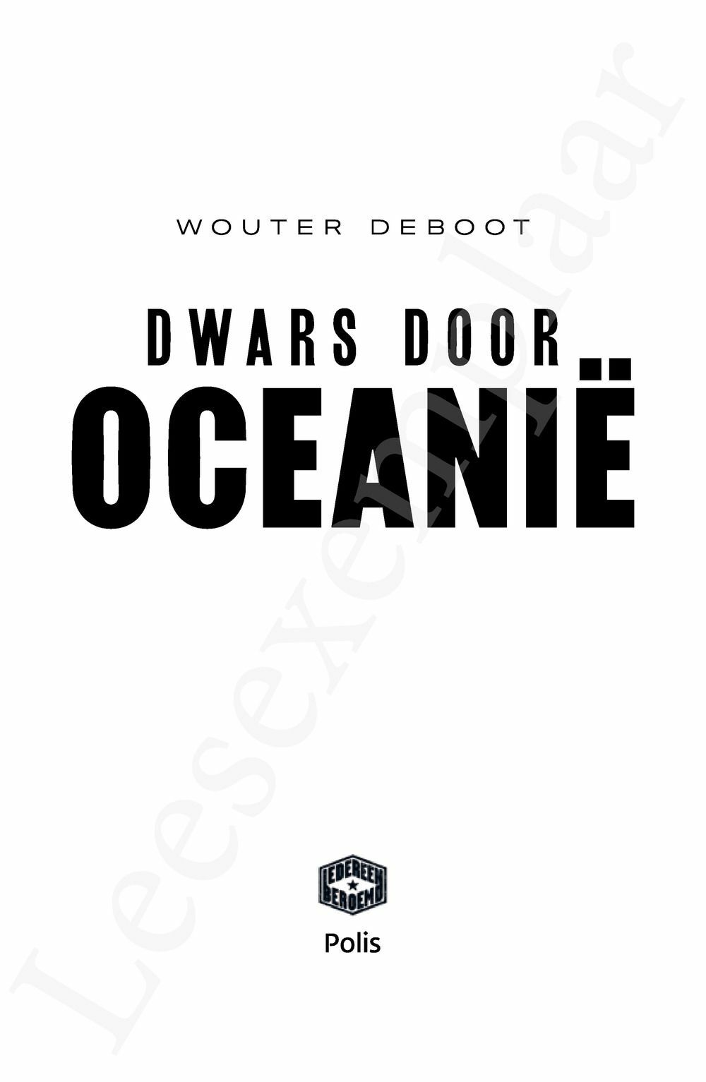 Preview: Dwars door Oceanië