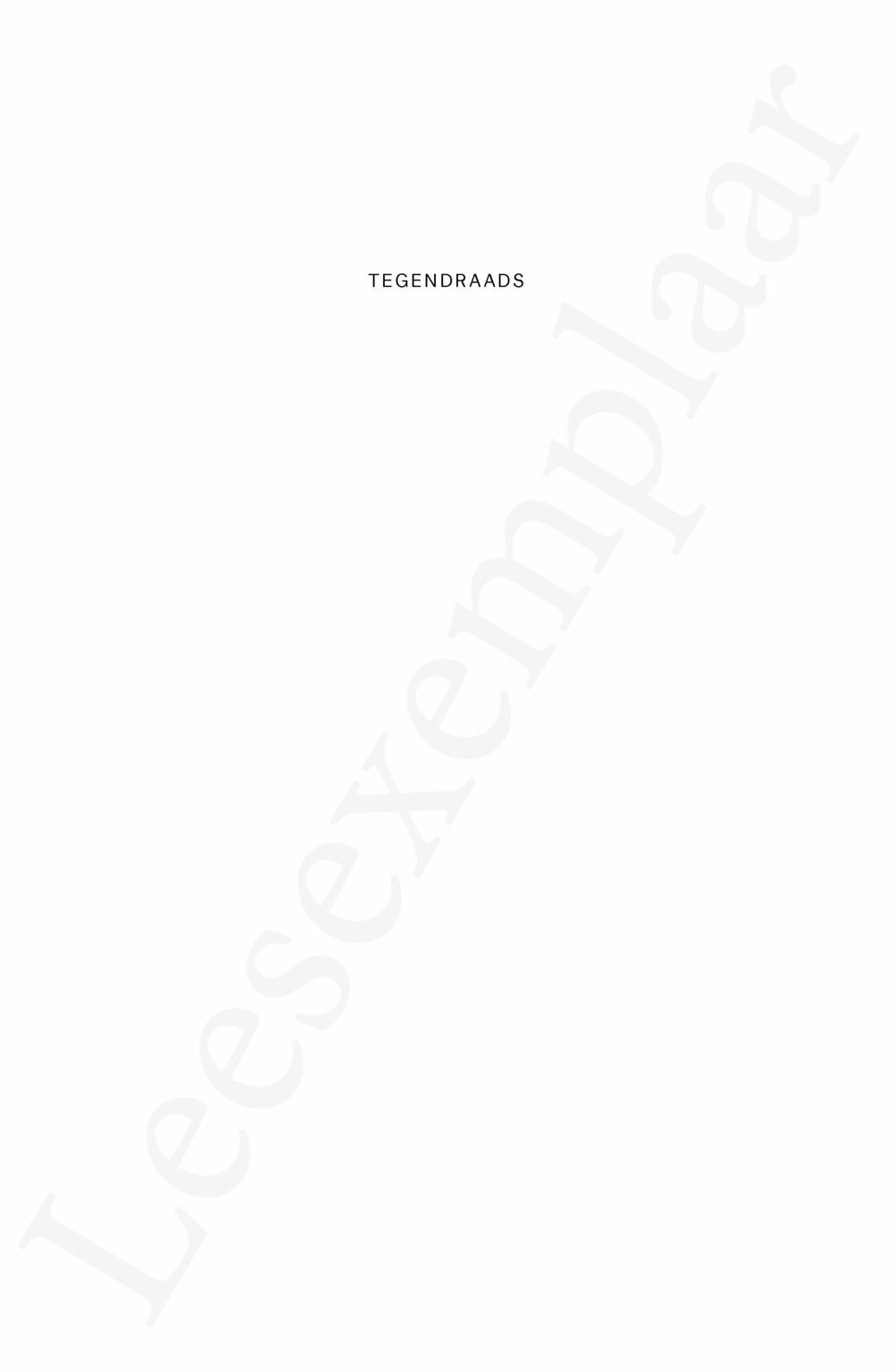 Preview: Tegendraads