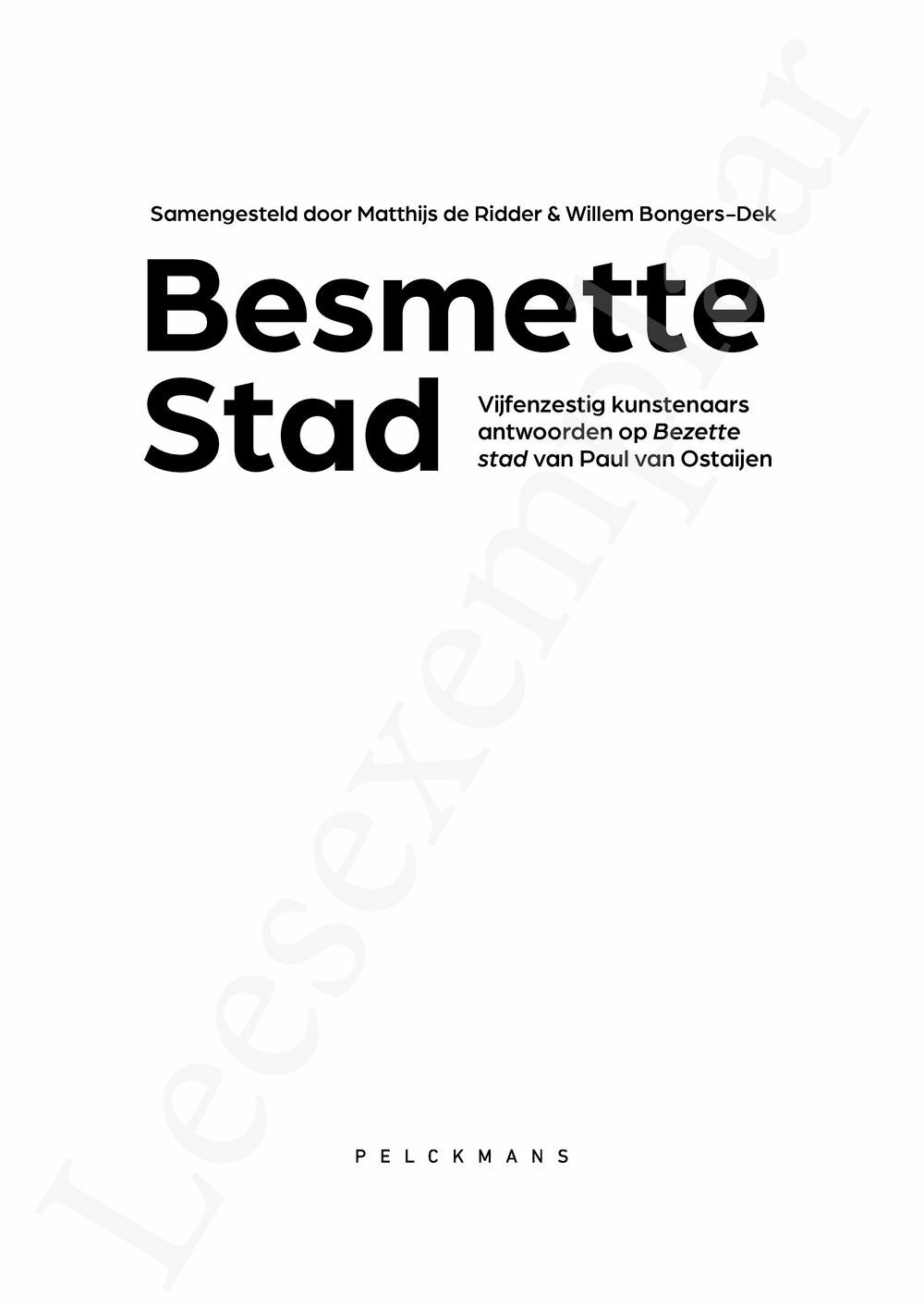Preview: Besmette Stad