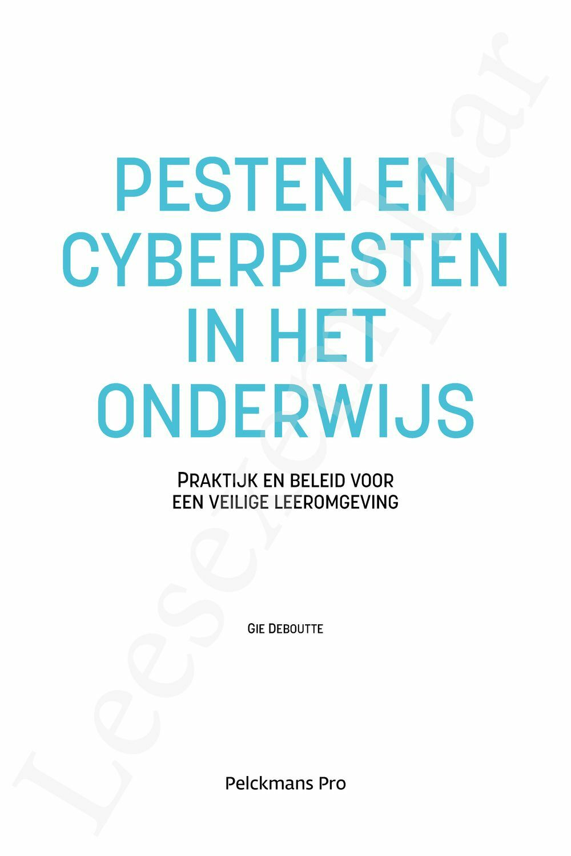 Preview: Pesten en cyberpesten in het onderwijs