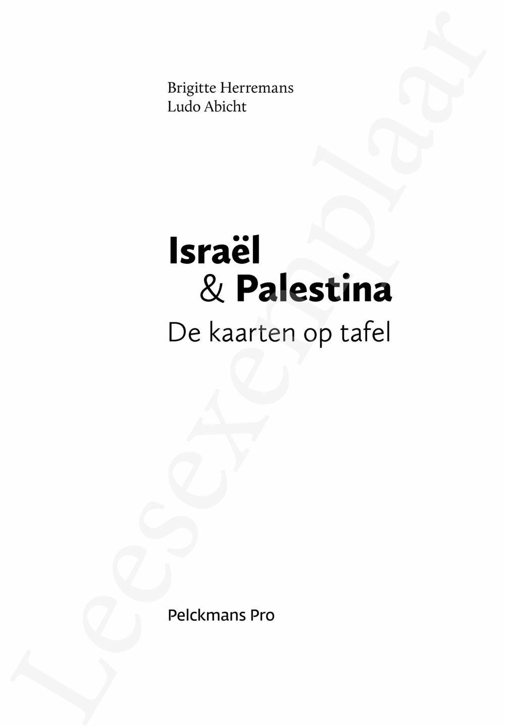 Preview: Israël & Palestina