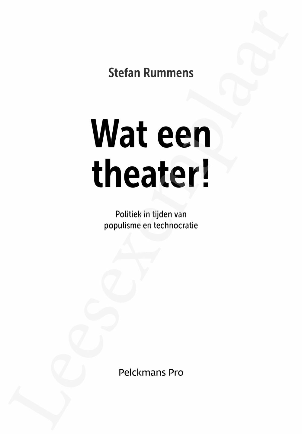 Preview: Wat een theater!