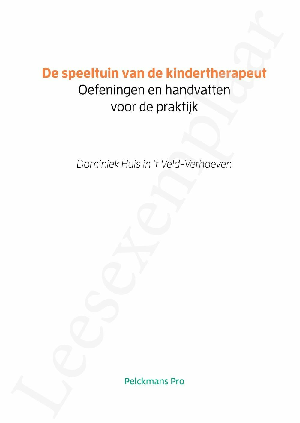 Preview: De speeltuin van de kindertherapeut