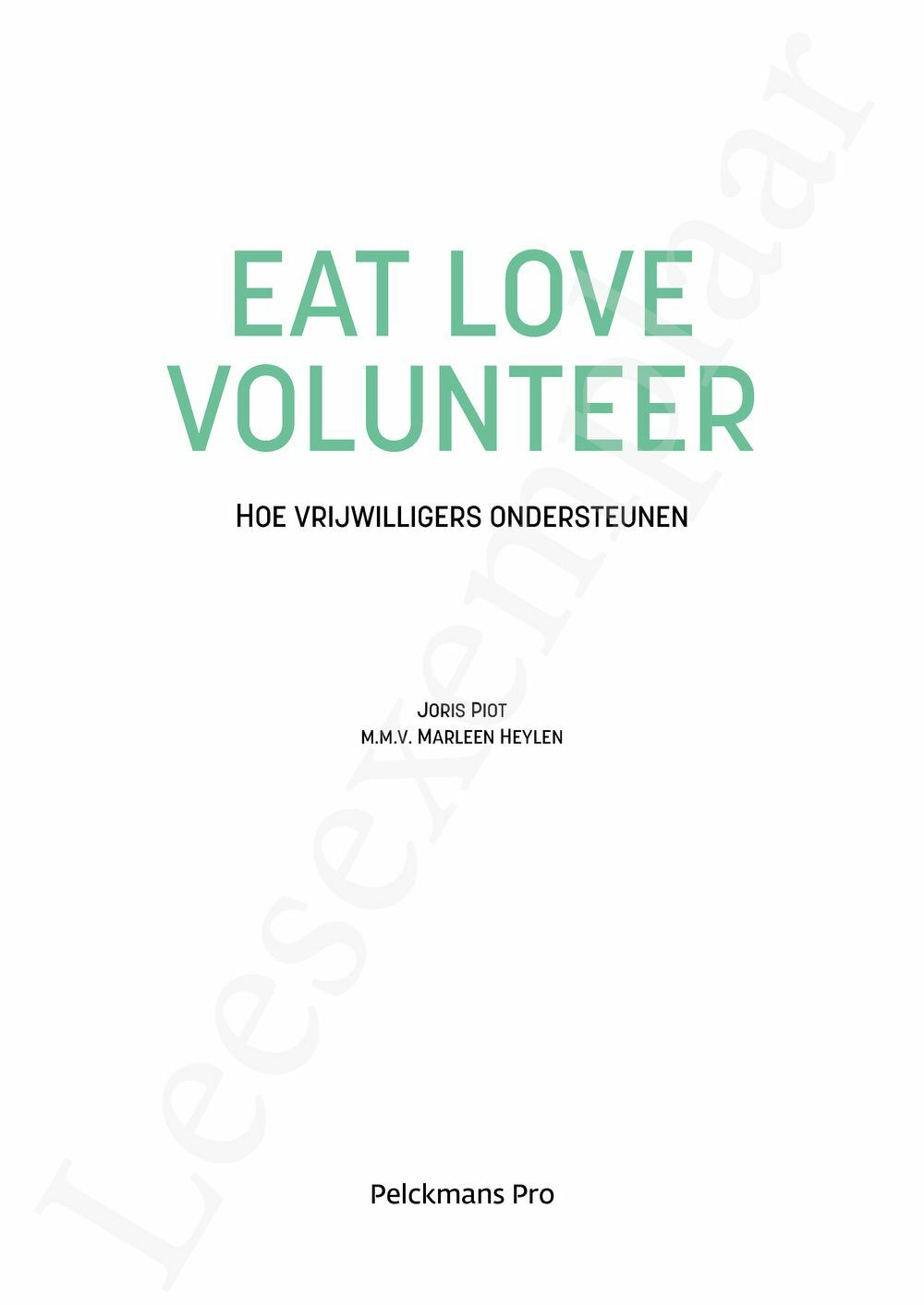 Preview: Eat love volunteer