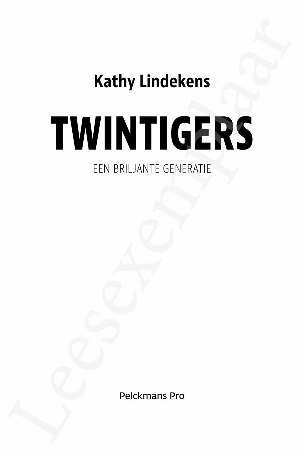 Preview: Twintigers