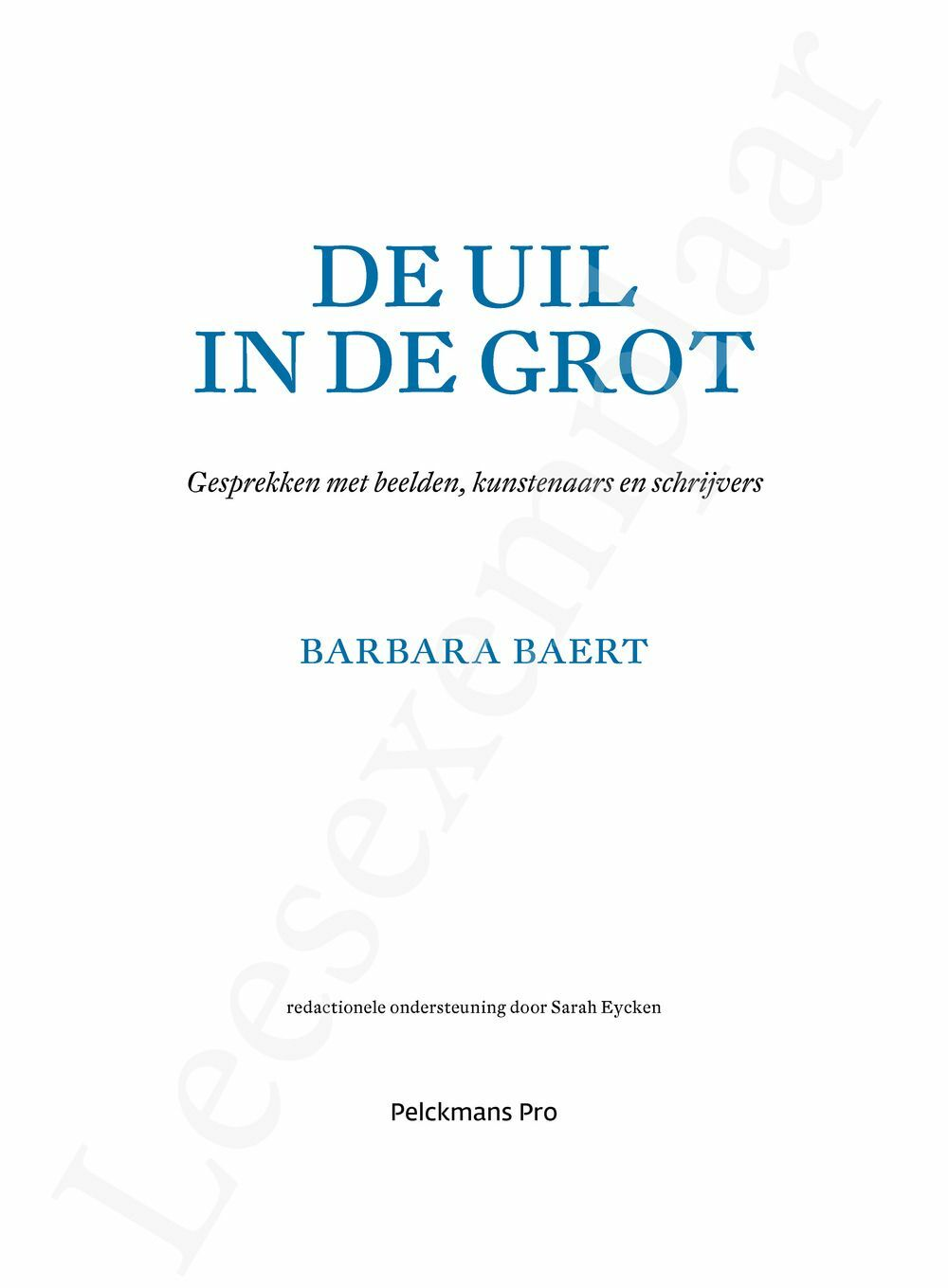 Preview: De uil in de grot