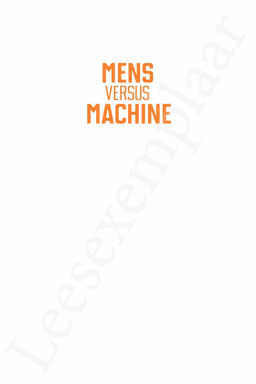 Preview: Mens versus machine