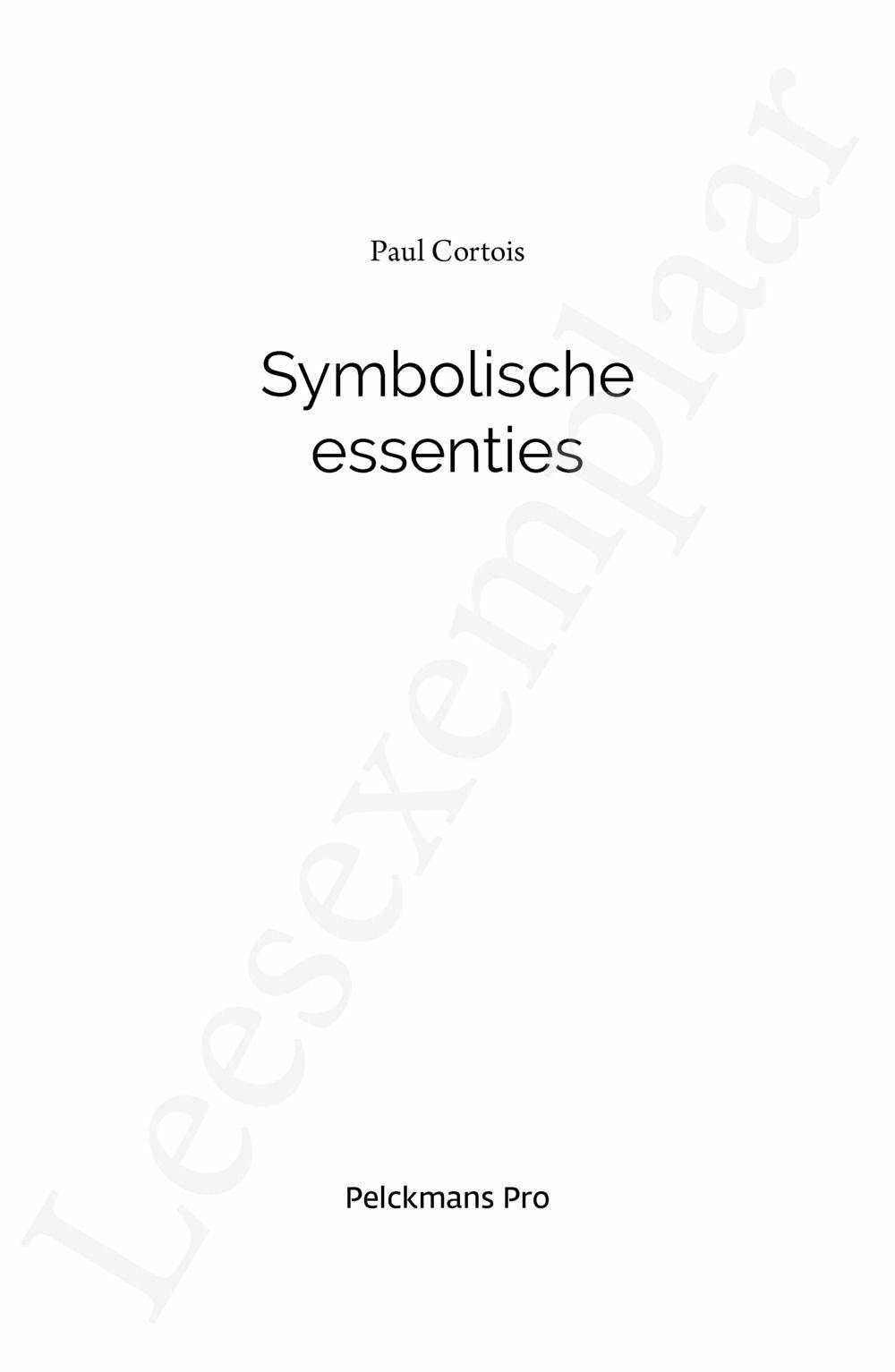 Preview: Symbolische essenties
