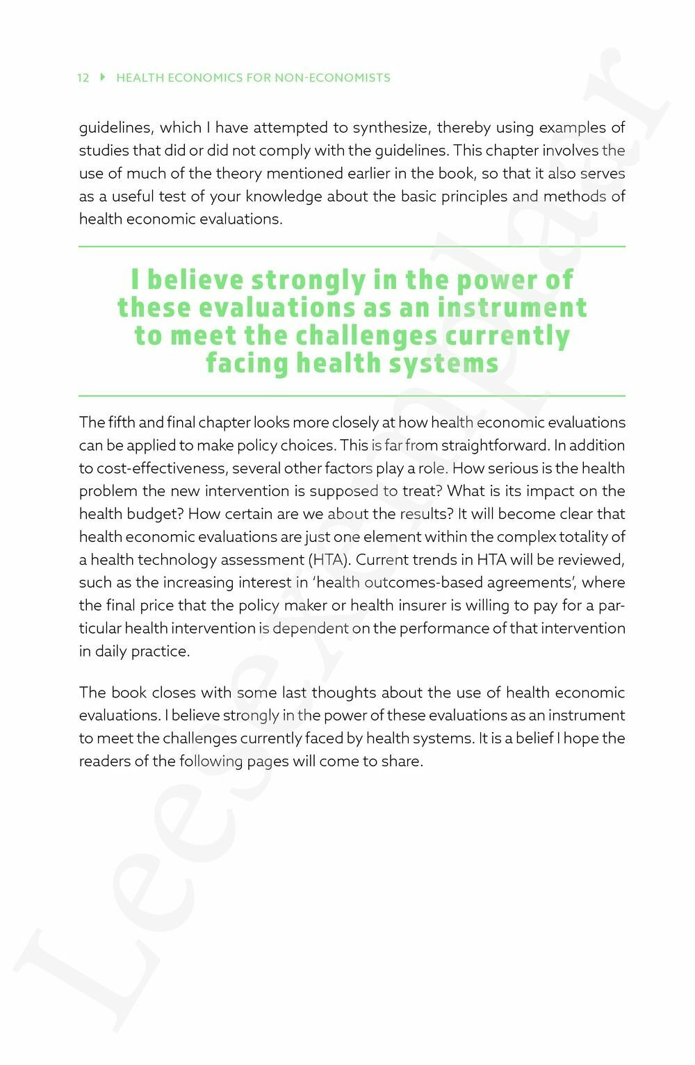 Preview: Health economics for non-economists