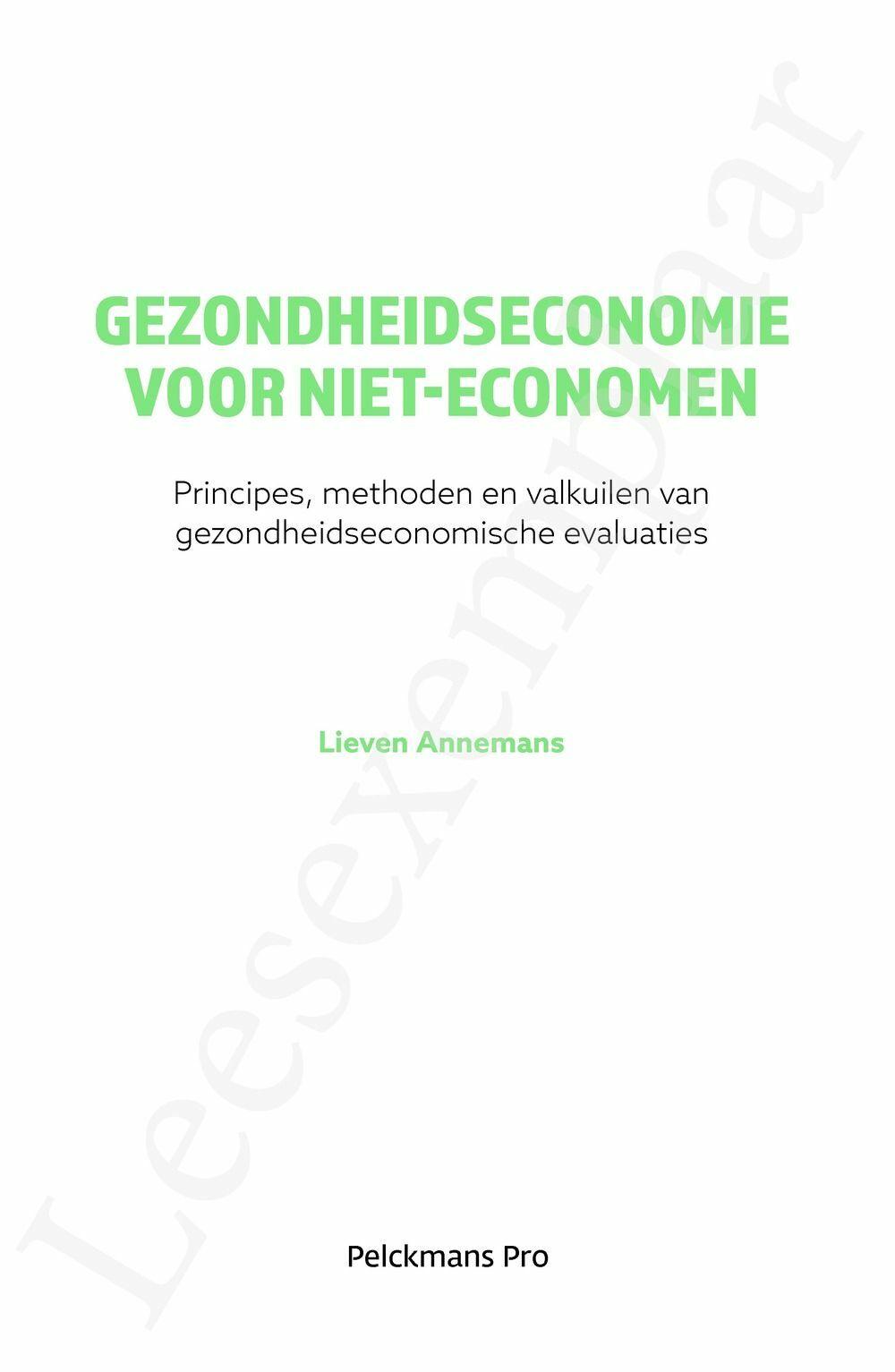 Preview: Gezondheidseconomie voor niet-economen