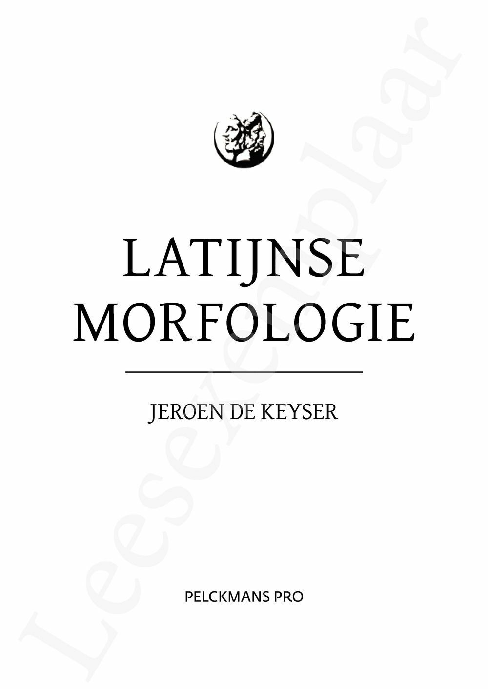 Preview: Latijnse morfologie