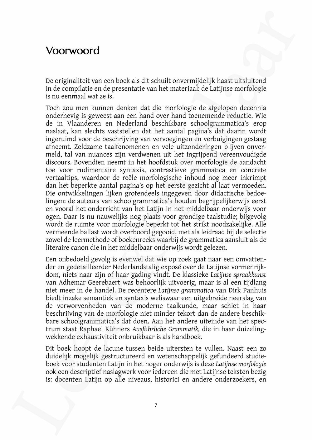 Preview: Latijnse morfologie