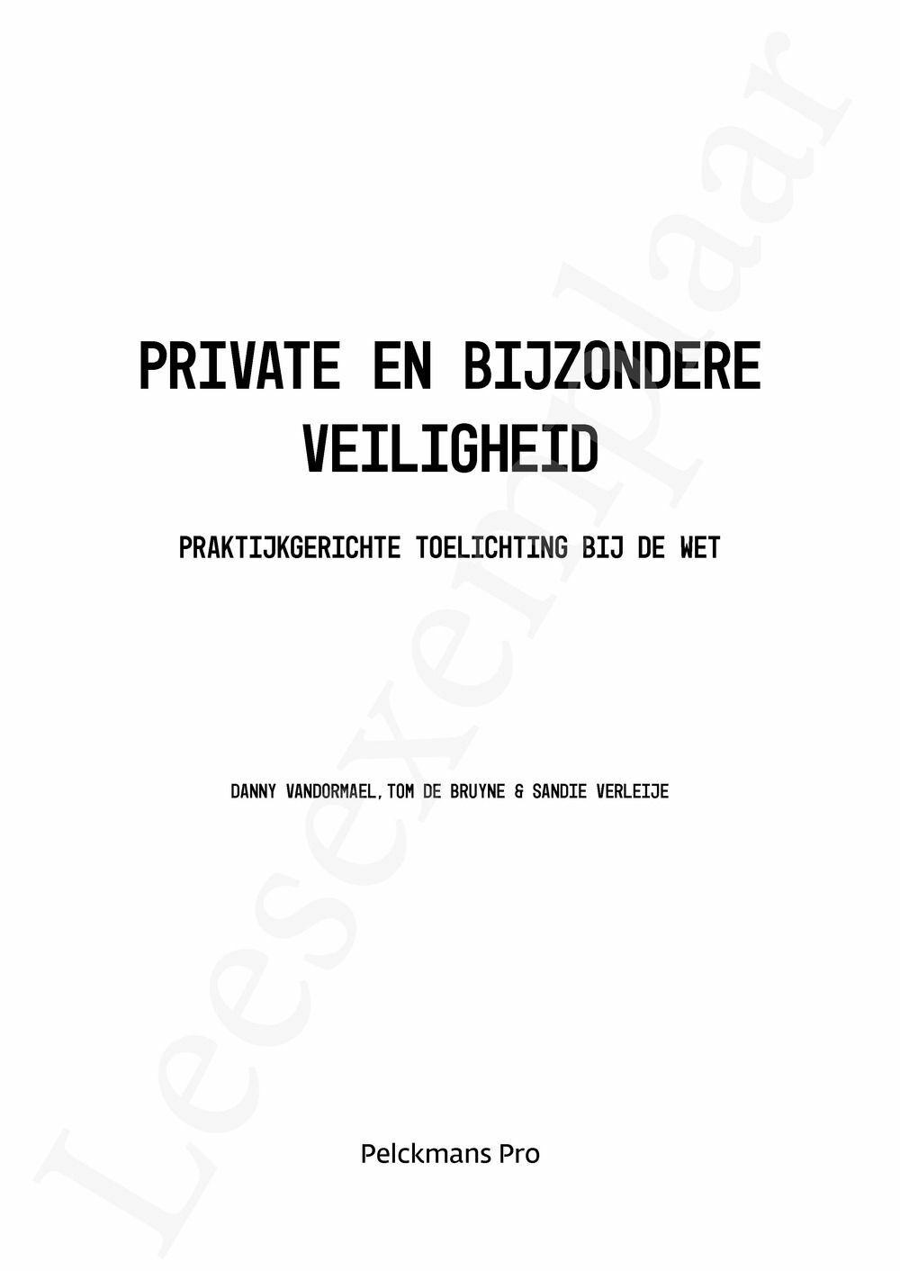 Preview: Private en Bijzondere Veiligheid