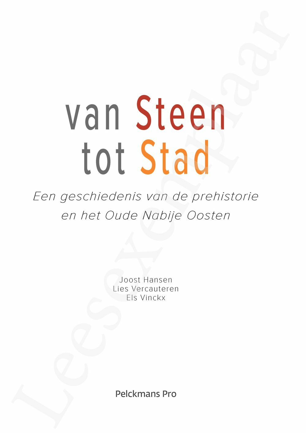 Preview: Van steen tot stad