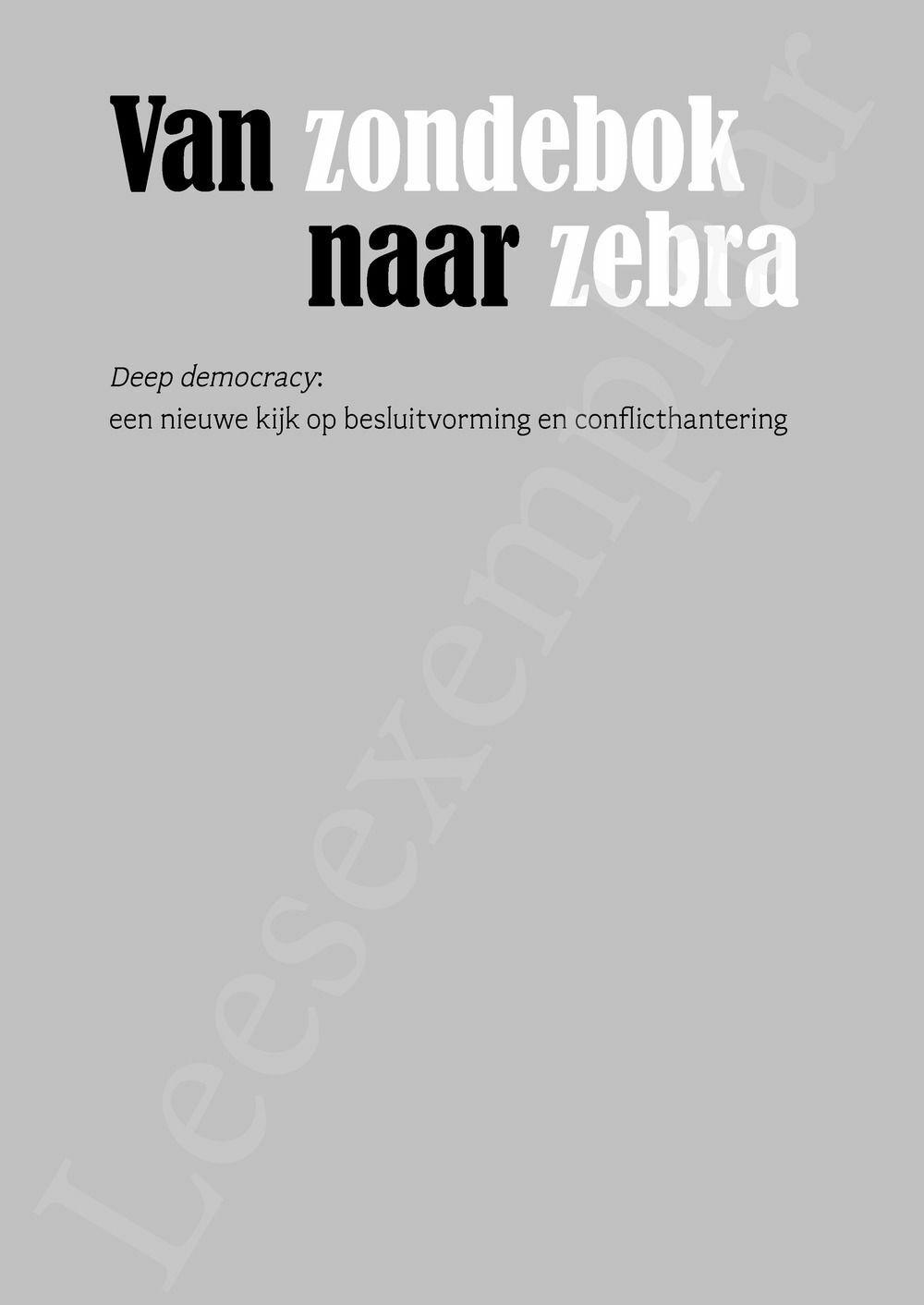 Preview: Van zondebok naar zebra
