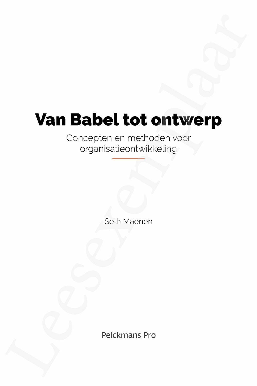 Preview: Van Babel tot ontwerp
