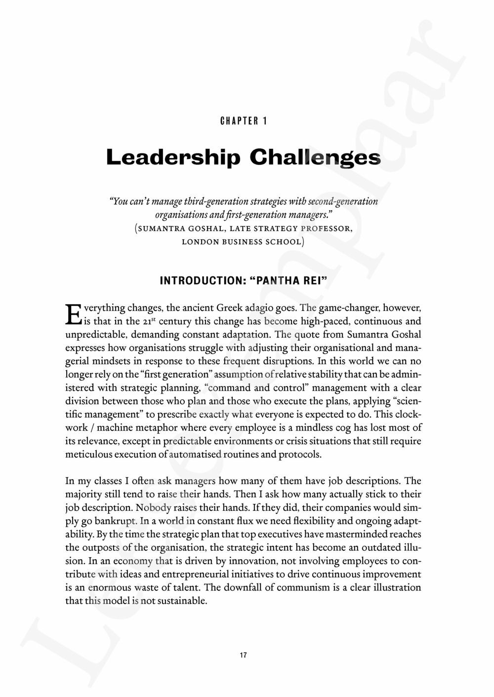 Preview: Paradoxes of Leadership